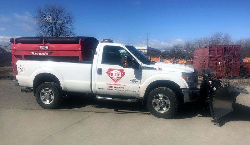 REP General Contractors - Snow Services Vehicle