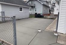 Concrete patio with base for gazebo – Racine, WI