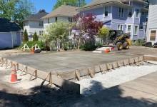 Concrete garage slab – Kenosha, WI