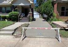 Concrete driveway and walkway – Racine, WI
