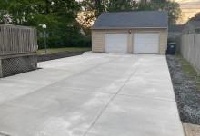 Concrete driveway, sectional pour – Racine, WI