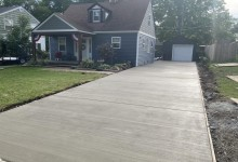 15' x 80' concrete driveway – Racine, WI