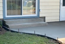 Concrete patio with steps – Racine, WI