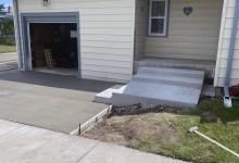Concrete driveway with steps – Racine, WI