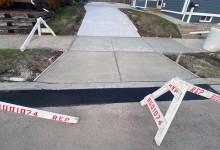 Concrete driveway and sidewalk – Racine, WI