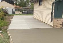Concrete driveway and patio  – Kenosha, WI