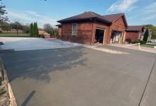 Concrete driveway for garage package – Mt. Pleasant, WI