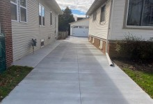 24' x 24' concrete driveway for garage package – Racine, WI