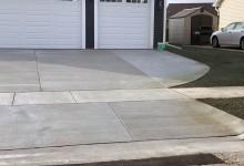New construction concrete driveway and sidewalk – Racine, WI