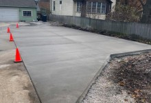 20' x 80' concrete driveway – Mt. Pleasant, WI