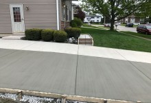 Two pour concrete driveway with horizontal controlled joint – Sturtevant, WI