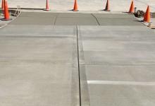 Picture frame concrete driveway for new construction - Sturtevant, WI