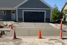 Sidewalk and driveway for new construction - Sturtevant, WI