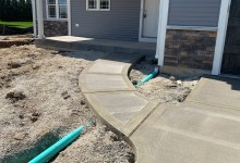Walkway for new construction - Sturtevant, WI