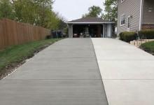Two pour concrete driveway – Sturtevant, WI