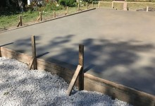 Picture frame concrete patio – Kenosha, WI