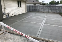 Concrete garage slab – Racine, WI
