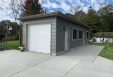 Concrete driveway and patio in Pleasant Prairie, WI