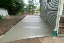 Picture frame concrete driveway in Waterford, WI