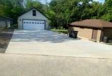 34' x 80' concrete driveway in Wind Lake, WI