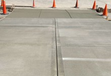 Picture frame concrete driveway for new construction in Sturtevant, WI