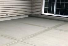 Concrete patio – Sturtevant, WI
