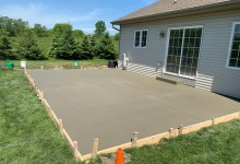 Concrete backyard patio - Caledonia, WI