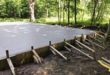 30' x 50' Concrete Garage Slab
