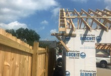 Trusses under construction