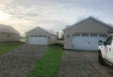 23' x 36' Detached 3 Car House Match Garage with 9' Walls