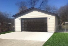 24' x 30' Detached 2.5 Car Detached Garage with 9' Walls