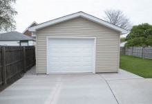 16' x 20' Detached 1 Car Garage with 8' Walls